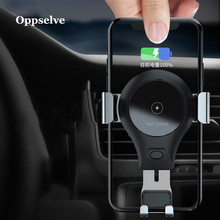 Oppselve 10W Fast Qi Wireless Car Charger Gravity Holder For iPhone XS X 8 Samsung Galaxy S9 Note 9 Quick Charge Charging Mount