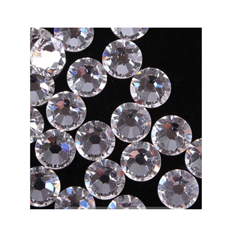 100 pcs ss20 Nail Art Clear Rhinestones Strass Flatback Non Hotfix Shiny  Glass Crystals Decorative Bags Boots Nails Moblie-in Rhinestones from Home    Garden ... 4c429601a136