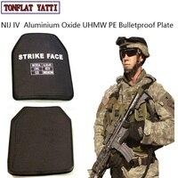Военная тактика Alumina & PE NIJ IV пуленепробиваемая панель/Al2O3 Lvl NIJ 4 Stand Alone баллистических пластины с Тесты видео и отчет
