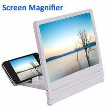 Suporte com lente de aumento para tela de celular, amplificador para tela de vídeo 3d, suporte expansor e dobrável