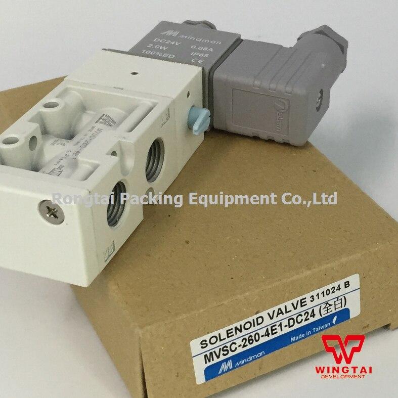 New Solenoid Valve MVSC-260-4E1 DV24C Taiwan Mindman new mindman solenoid valve mvsd 180 4e1 mvsd1804e1 coil ac220v
