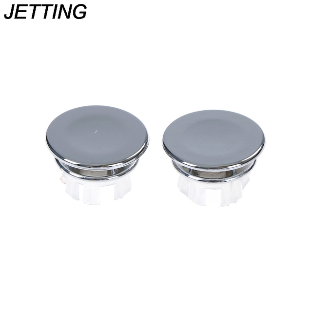 2pcs Basin Sink Round Overflow Cover Ring Insert Replacement Tidy Chrome  Trim Bathroom Accessories Overflow Ring
