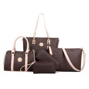 Image 1 - 5 Set Famous Brand Women luxury Hand Bag For 2018 PU Leather Purse Bags shoulder Messenger Ladies Handbag bolsa feminina AWM19