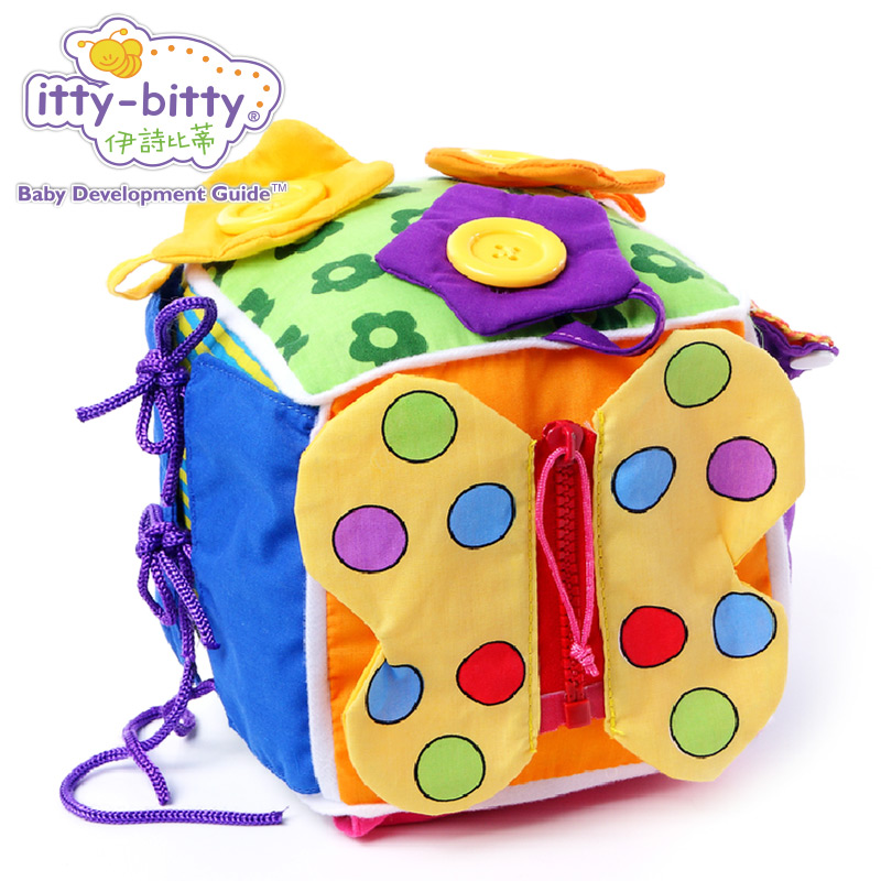 Itty-Bitty Play Learn to Dress Soft Activity Cube Educational Game Block Baby Toys for Children Preschool Skill Birthday Gift real cable ott60 1m20