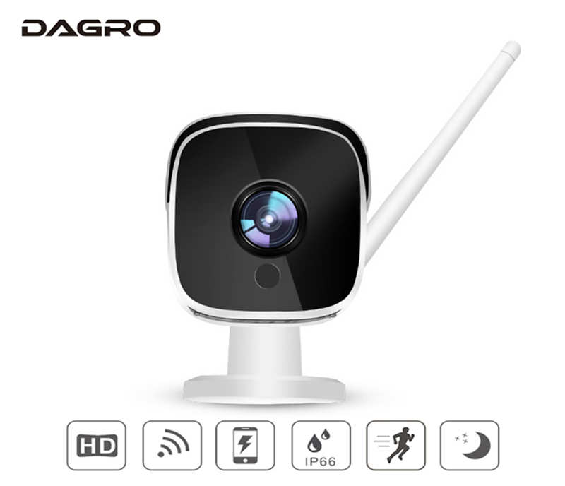DAGRO 1080P outdoor waterproof wireless WiFi smart network camera HD night vision home monitoring head броши sokolov 740136 s