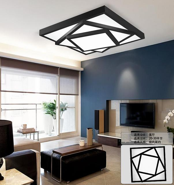 Cool Room Lighting: Modern Square Stack Ceiling Warm White Or Cool White LED