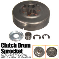 "5 pçs/set 3/8 ""7 Tooth Chain Saw Sprocket Clutch Drum Placa Passiva Arruela E Clip Kit Para Steele stihl 029 039 MS290 MS310 MS390|Acessórios para ferramenta elétrica| |  -"