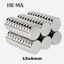 20pcs 15 x 4mm N35 Mini Powerful Magnet Rare Earth Permanent Small Round Strong Neodymium Magents