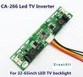 CA-266 12 V-28 V de entrada 26-65 polegada TV LED backlight placa do inversor universal Levou corrente Constante placa