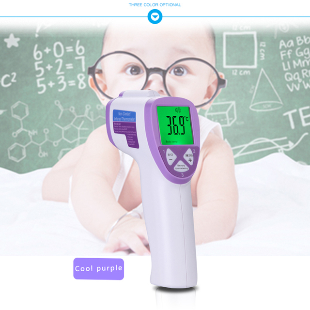 Guucy Baby Adult Forehead Non-contact Infrared Thermometer With LCD Blacklight Baby Digital electronic measure temperature gun 1
