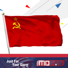 MOFAN 3X5 Foot Soviet Union Flag USSR Flag  (Style Pole Sleeve) Hammer & Sickle Russia Union of Soviet Socialist Republics Flag
