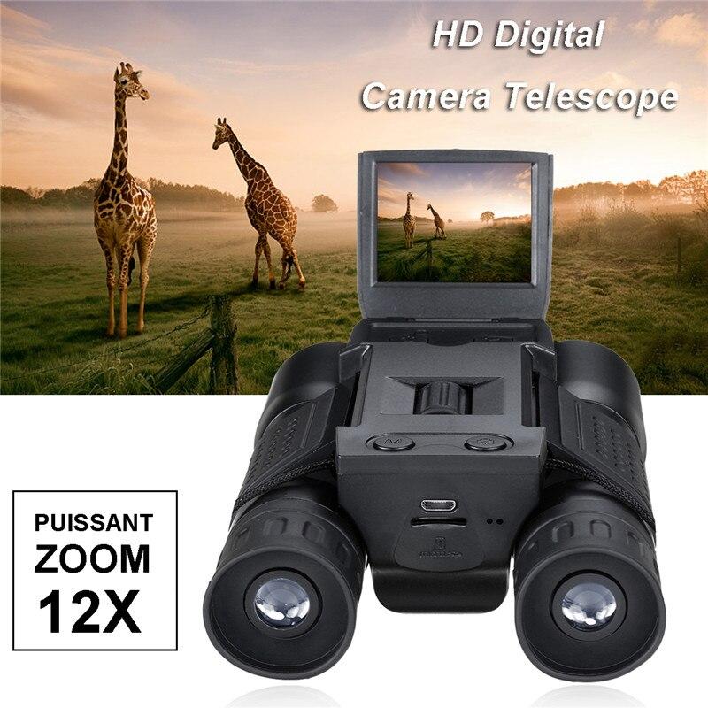 Suncore 1080 p 5MP 12X HD Écran Appareil Photo Numérique Télescope Jumelles Vidéo Caméra COMS USB Capteur Avec Fonction D'enregistrement