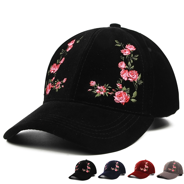 Hot Women's Cap Red Rose Flower Summer Snapback Dad Hat For Men Women Unisex Chinese Style Baseball Cap Female Sun Club Party hot unisex women winter plicate baggy beanie knit crochet cap oversized slouch hat 225p