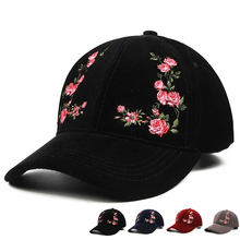 f957c3a2cf7 Hot Women s Cap Red Rose Flower Summer Snapback Dad Hat For Men Women  Unisex Chinese Style