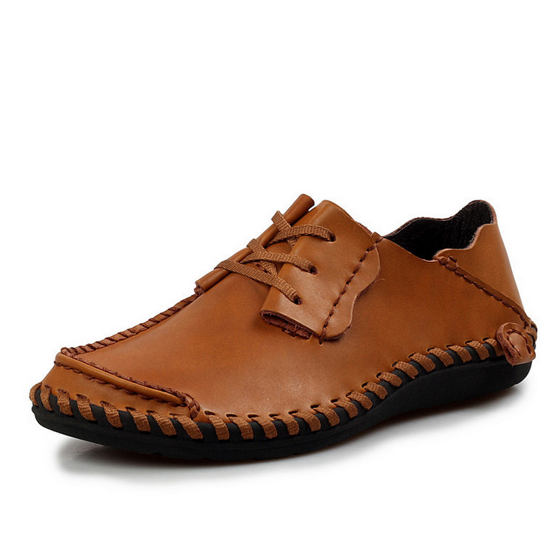 Black blue D'été h brown Brown En Casual H Hommes Chaussures Respirant Brown Souple Dark Cuir dark Mocassins 5AR4j3L