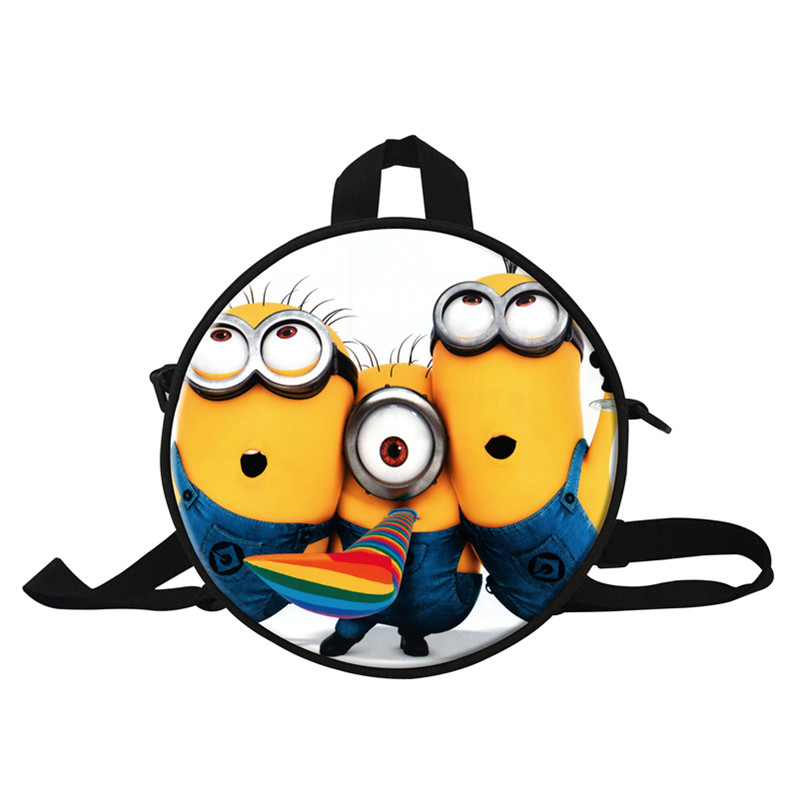 ddeadc4ac3bc 9 Inch Minions Small Bags Despicable Me Round Backpack Kids School Bags For Boys  Girls Shoulder Backpacks For Kindergarten-in Backpacks from Luggage   Bags  ...