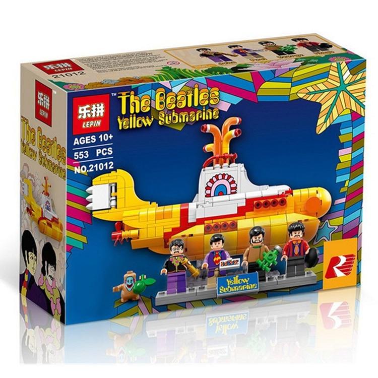 2017 Lepin 21012 New 553Pcs The beatles yellow submarine Building Blcoks Bricks Toys 21306 lepin 21012 builder the beatles yellow submarine with 21306 building blocks bricks policeman toys children educational gift toys