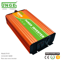 JNGE peak power 1600W off grid 800W 12V 24V 220V pure sine wave solar power inverter