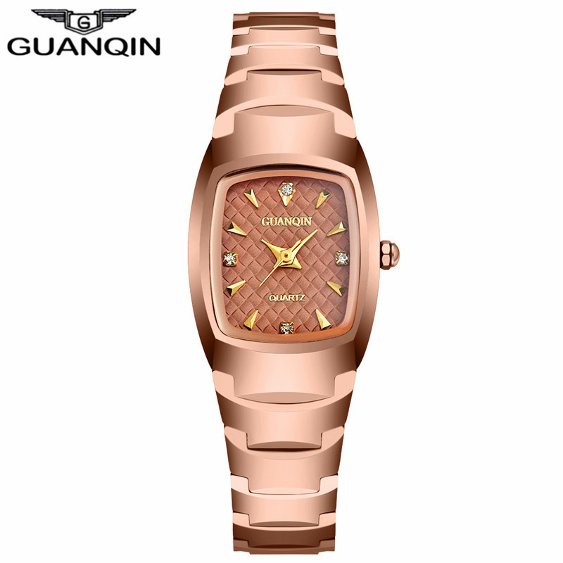 ФОТО GUANQIN GQ30005 Relojes Mujer Women Watches Luxury Tungsten Steel Quartz Watch Women Waterproof Summer Style Ladies Wristwatch