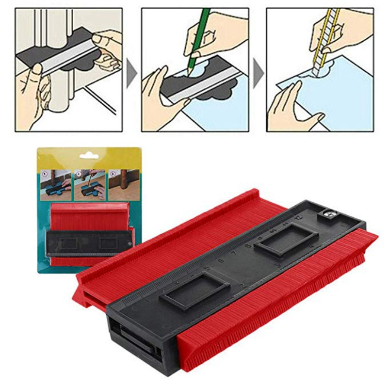 New Duplicator Tool High Accuracy Contour Copy Profile Gauge Tiling For Wood Marking Tool Tiles General Tools