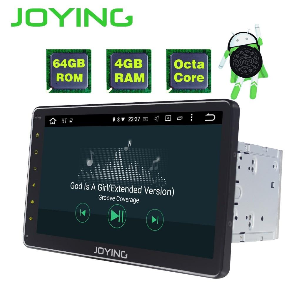 JOYING Android 8.1 2 din Autoradio Stéréo Multimédia Lecteur GPS Radio 10.1 ''IPS HD Unité de Tête de L'écran avec DSP octa Core 4 gb RAM