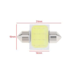 Image 2 - 2 sztuk samochodów lampa LED w kształcie kopuły 12  SMD CoB wnętrze auta samochodu mapa kopuła licencja płytka wymienna zestaw oświetleniowy biała lampa zestaw