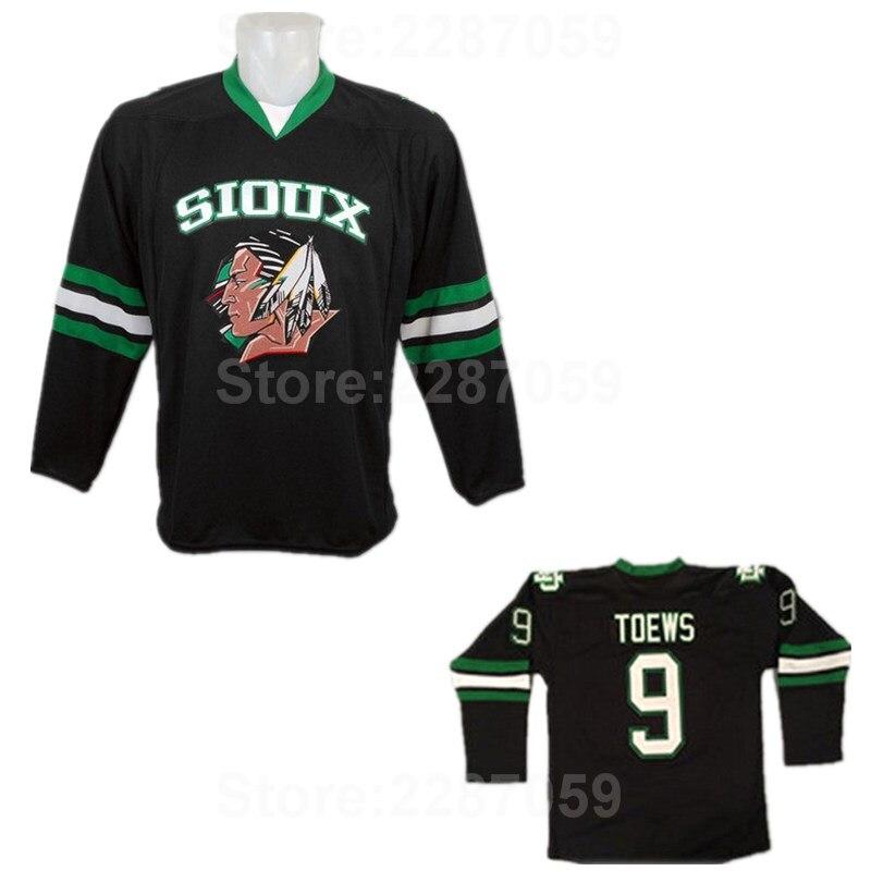1b54e6a3f4a Ediwallen North Dakota Fighting Sioux College 9 Jonathan Toews Jersey Men  Green Black White Stitched Ice Hockey Jerseys Toews-in Hockey Jerseys from  Sports ...