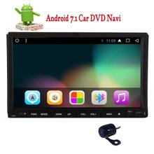 2 din GPS Navigation Android 7.1 Car DVD Player Radio Stereo support USB/SD FM AM RDS Radio Receiver Wifi free rear Camera