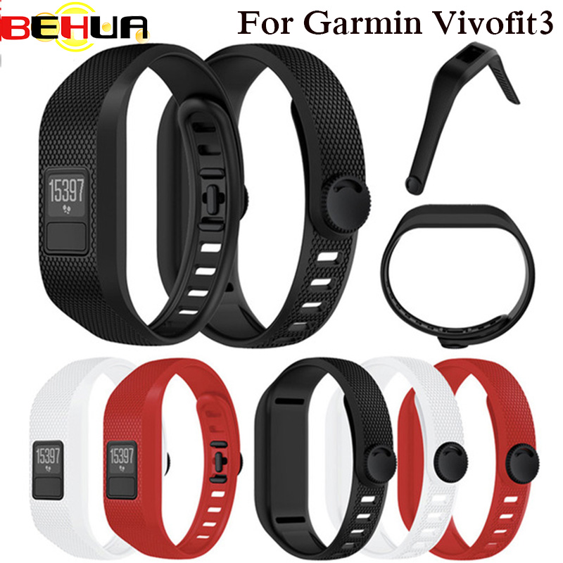 Soft Silicone Watch Band For Garmin Vivofit 3 Replacement Wrist Watch Band Strap Accessory Wristbands For Garmin Vivofit3 Strap