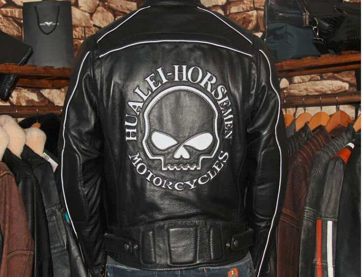 Free shipping.cool Brand new Skull man leather Jackets quality mens genuine Leather biker jacket.motorcycle gear,