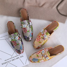 spring summer fashion womens slippers high quality fabric comfortable and breathable inside beautifully decorated