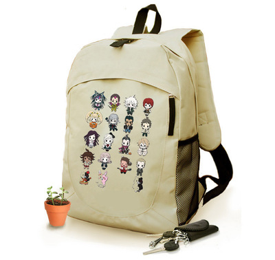 Anime Danganronpa Cosplay cartoon shoulder bag male and female students travel leisure large capacity backpack anime tokyo ghoul cosplay anime shoulder bag male and female middle school student travel leisure backpack