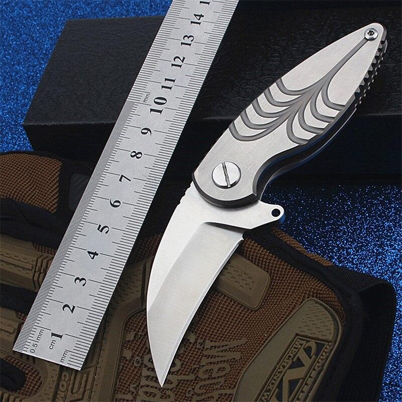 2018 nouvelle offre spéciale couteau pliant tactique extérieur haute dureté auto-défense survie Camping poche petits couteaux de chasse outils