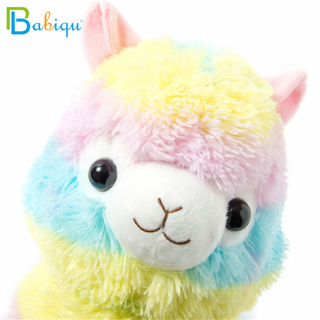 1pc 20cm Rainbow Alpaca Vicugna Pacos Plush Toys for Children Japanese Soft Plush Alpacasso Baby Stuffed Animals Alpaca Gifts 3