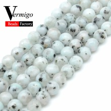Natural Faceted Blue Spot Stone Beads Minerals Loose Beads For Jewelry Making Diy Bracelet Spacer Beads 4 6 8 10mm 15inches oval shape star stone corundum cabochon blue stone beads for jewelry making diy faceted blue stones