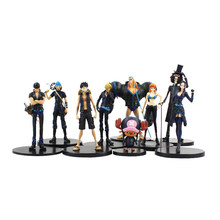 9 pçs/set Anime One Piece Monkey D Luffy Filme Ouro Tony Tony Chopper Brook Sanji Nami Zoro Figuras PVC Brinquedos 9-22 cm(China)