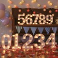 Kreative LED Licht 1 9 Zahlen Für Geburtstag Hochzeit Party DIY Wand Dekoration Festzelt Lichter Lampe Hause Culb Outdoor-in Dekorative Buchstaben & Zahlen aus Heim und Garten bei