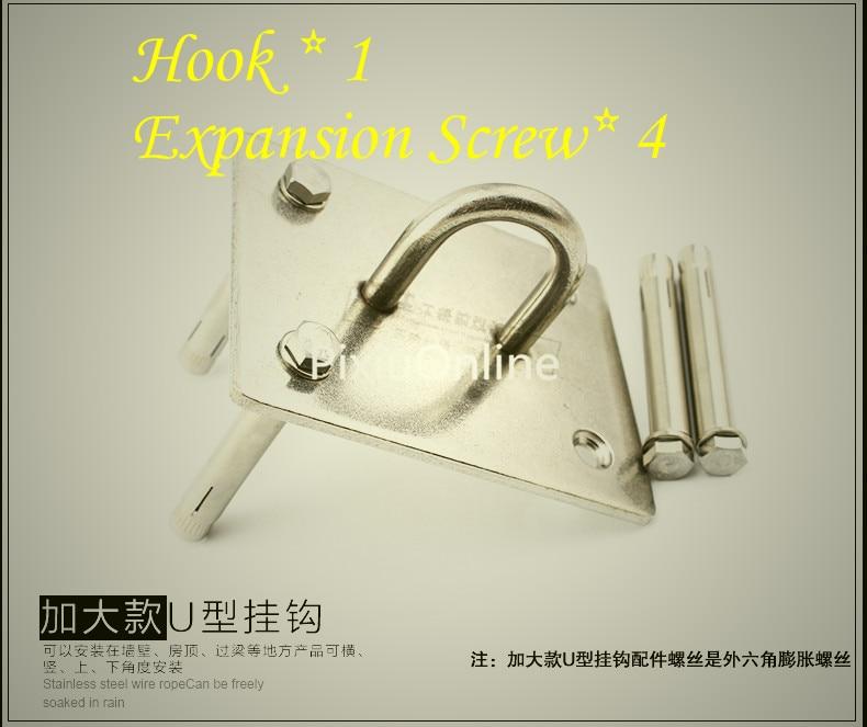 1PCS YT540 304 Stainless Steel Sandbags Hook Lamp hook The Fixed hook U-Shaped Bearing Hook Bear 400KG Distribution Screw 2018 hook