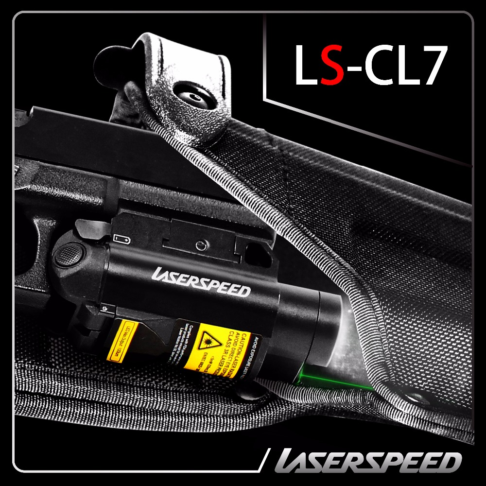 Green laser sight and flashlight combo with pressure switch