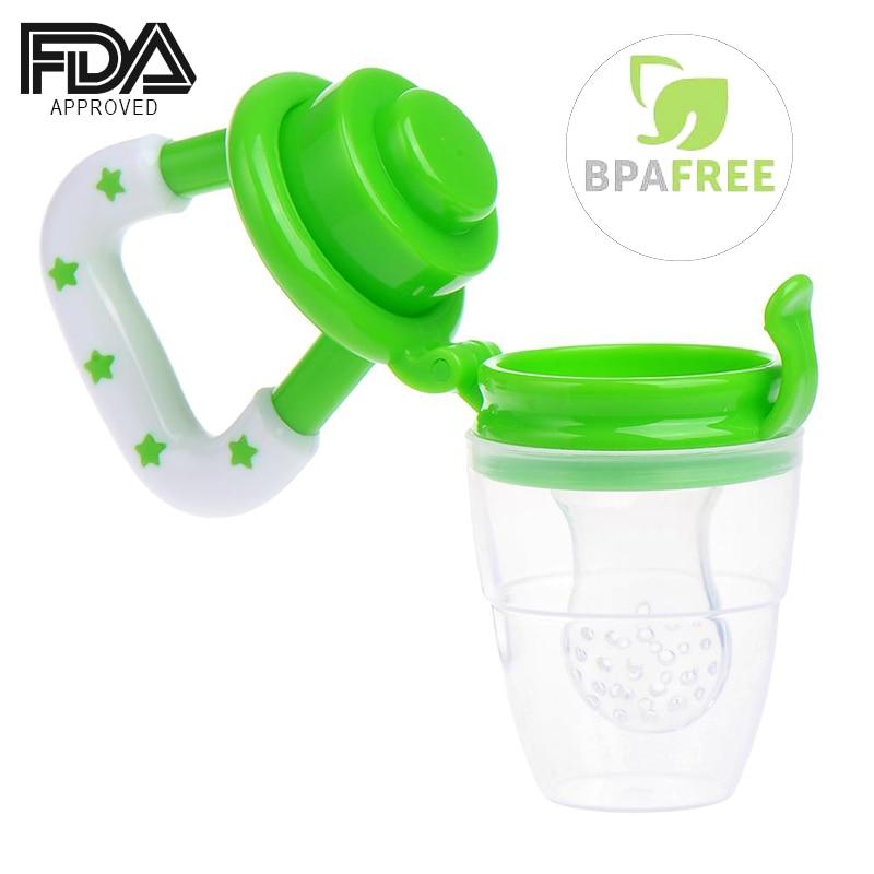 Baby Teether Fruit Feeder Infant Fresh Food Pacifier Silicone Teething Nibbler