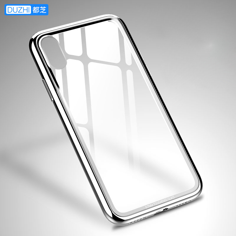For iphone X Case Original Duzhi Brand Shockproof Glossy Case For iphoneX Tempered Glass Back Cover +Plated Frame For iphone X