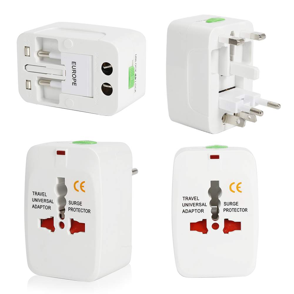 NEW 1X Business Travel Universal Adapter Charger Converter Electrical Plug Socket US UK EU AU White ...