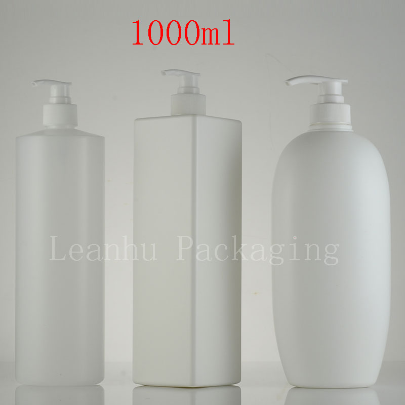 1000ml Empty Lotion Spray Pump Container Shampoo HDPE Bottle  Liquid Soap Dispenser Refillable Bottles  Cosmetic Pump  6PC/lot alcohol and liquid container bottle white 180ml