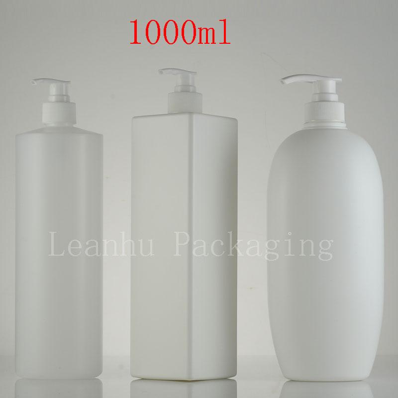 1000ml Empty Lotion Spray Pump Container Shampoo HDPE Bottle  Liquid Soap Dispenser Refillable Bottles  Cosmetic Pump  6PC/lot