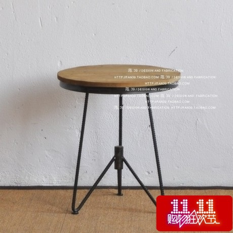 American Iron IKEA Coffee Table Round Low Tea Table To Do The Old Retro  Wood Wrought