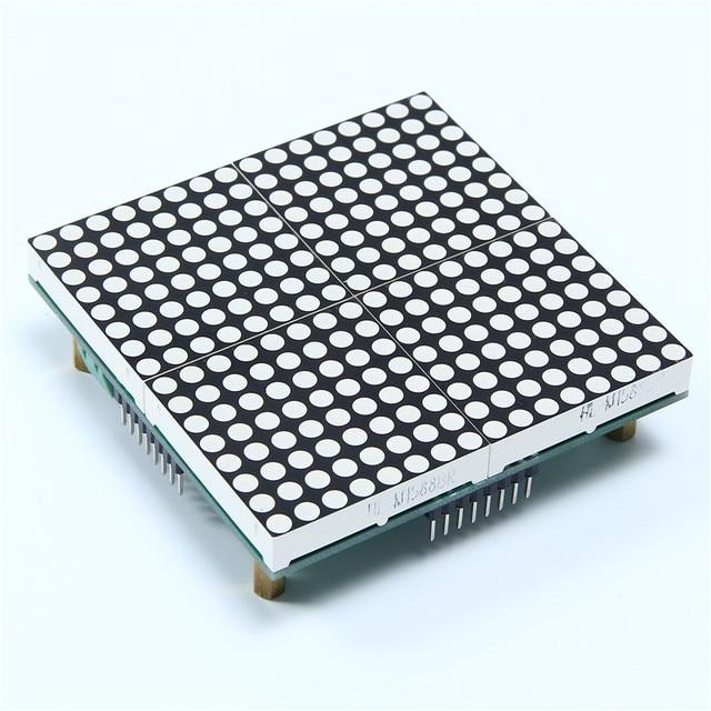 R$ 51 92 |16x16 LEVOU Módulo Dot Matrix Subtítulo Texto LEVOU HT1632C  Treliça 3 75mm Vermelho 16*16 em Circuitos integrados de Componentes
