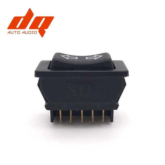 Power Window Fort Universal 12v Dc Copeland Scroll Wiring Diagram Lift Switch Button Black 20a 5 Pins For Peugeot Pg103