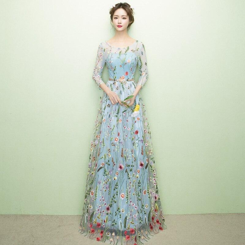 Longue Robe Moulante Maxi de Soirée Robe Femmes Argent floral Solide robes Haut de Split Metting Robe