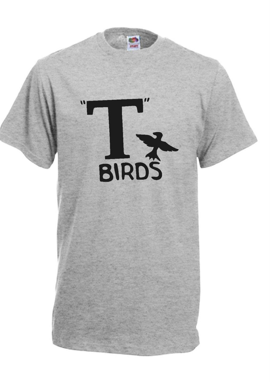T BIRDS HOODY HOODIE FUNNY GREASE TRAVOLTA FANCY DRESS FASHION JOKE RETRO
