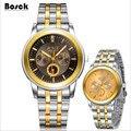 BOSCK relojes hombre hombres reloj de cuarzo de negocios de ocio de moda de lujo relojes de marca erkek kol saati reloj relogio masculino